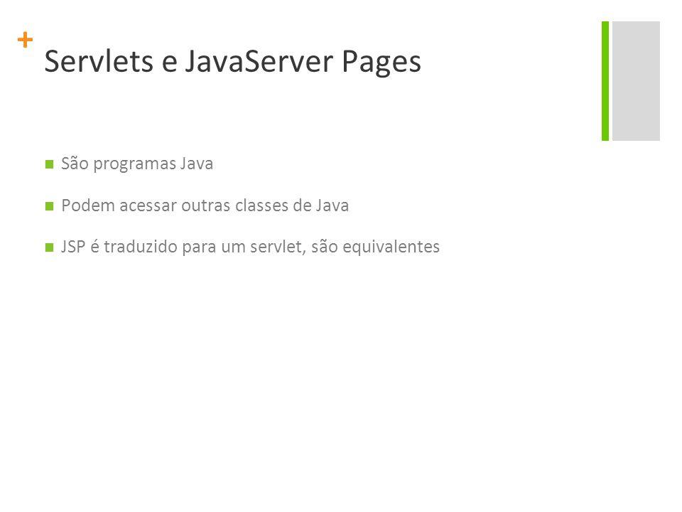 Servlets e JavaServer Pages