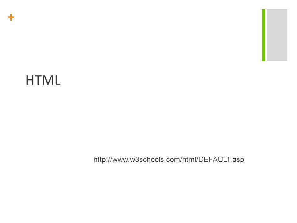 HTML http://www.w3schools.com/html/DEFAULT.asp