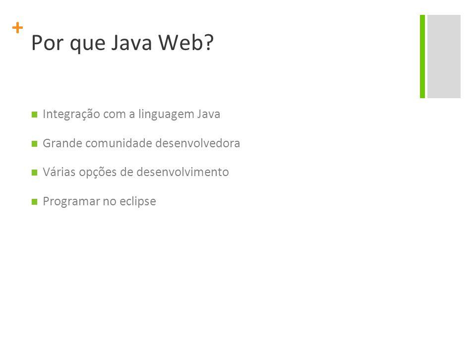 Por que Java Web Integração com a linguagem Java