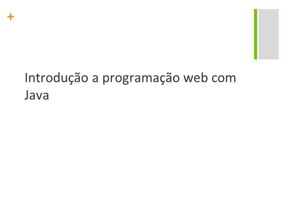 Introdução a programação web com Java
