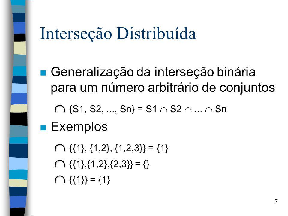 Interseção Distribuída
