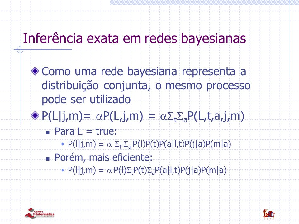 Inferência exata em redes bayesianas