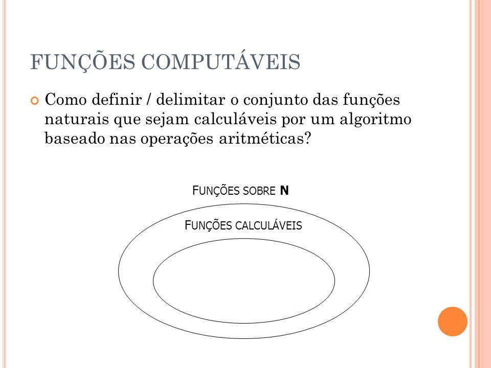 FUNÇÕES COMPUTÁVEIS