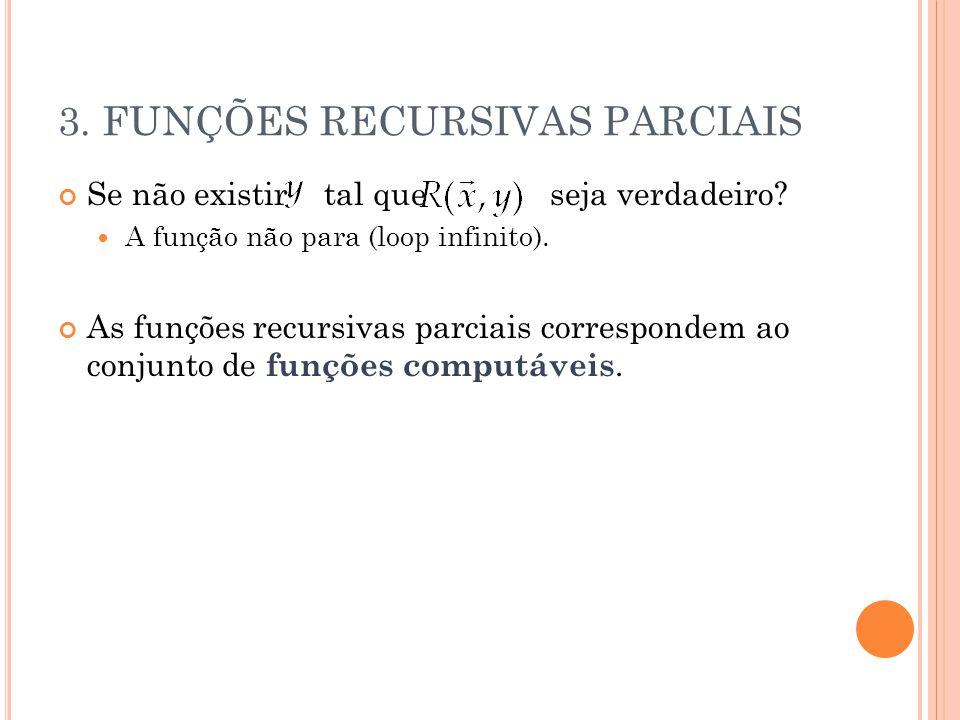 3. FUNÇÕES RECURSIVAS PARCIAIS