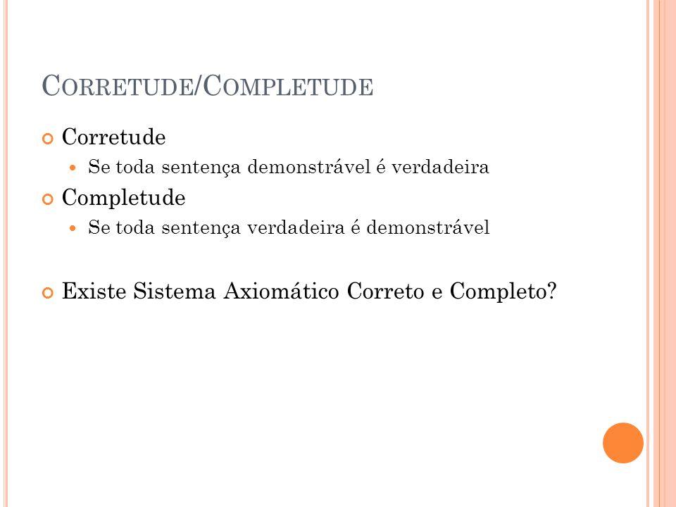 Corretude/Completude