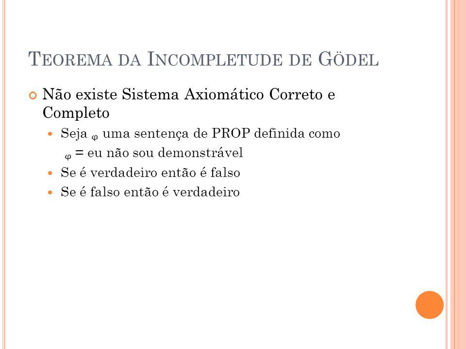 Teorema da Incompletude de Gödel