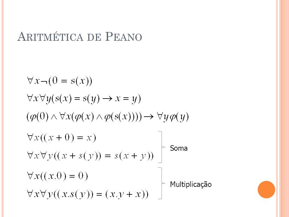 Aritmética de Peano Soma Multiplicação