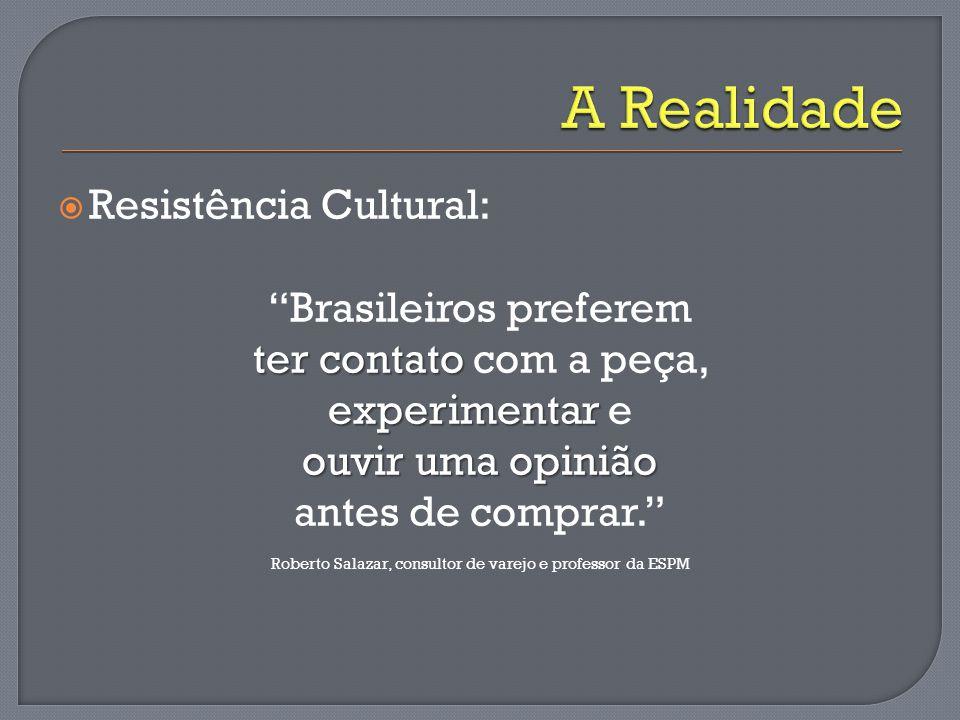 A Realidade Resistência Cultural: Brasileiros preferem