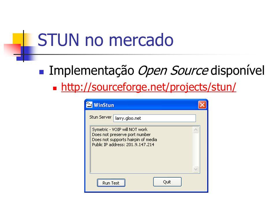 STUN no mercado Implementação Open Source disponível