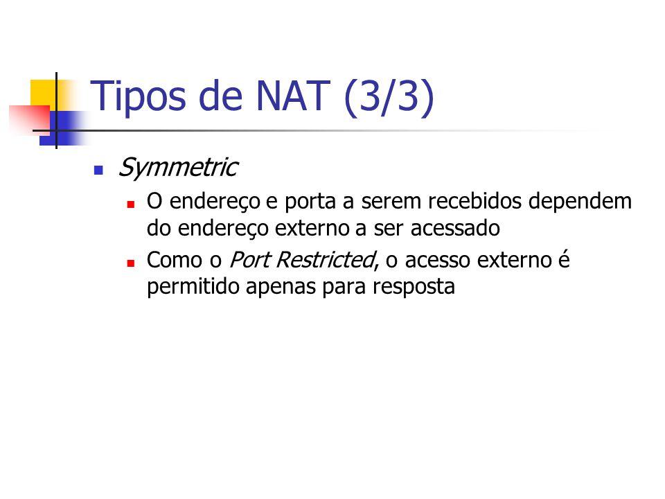 Tipos de NAT (3/3) Symmetric