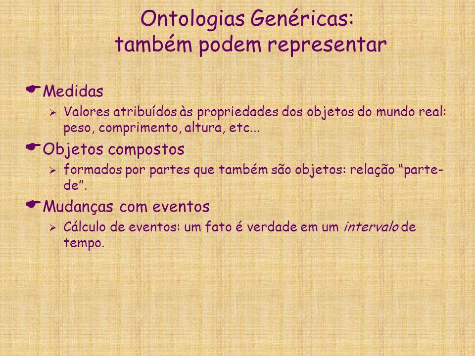 Ontologias Genéricas: também podem representar