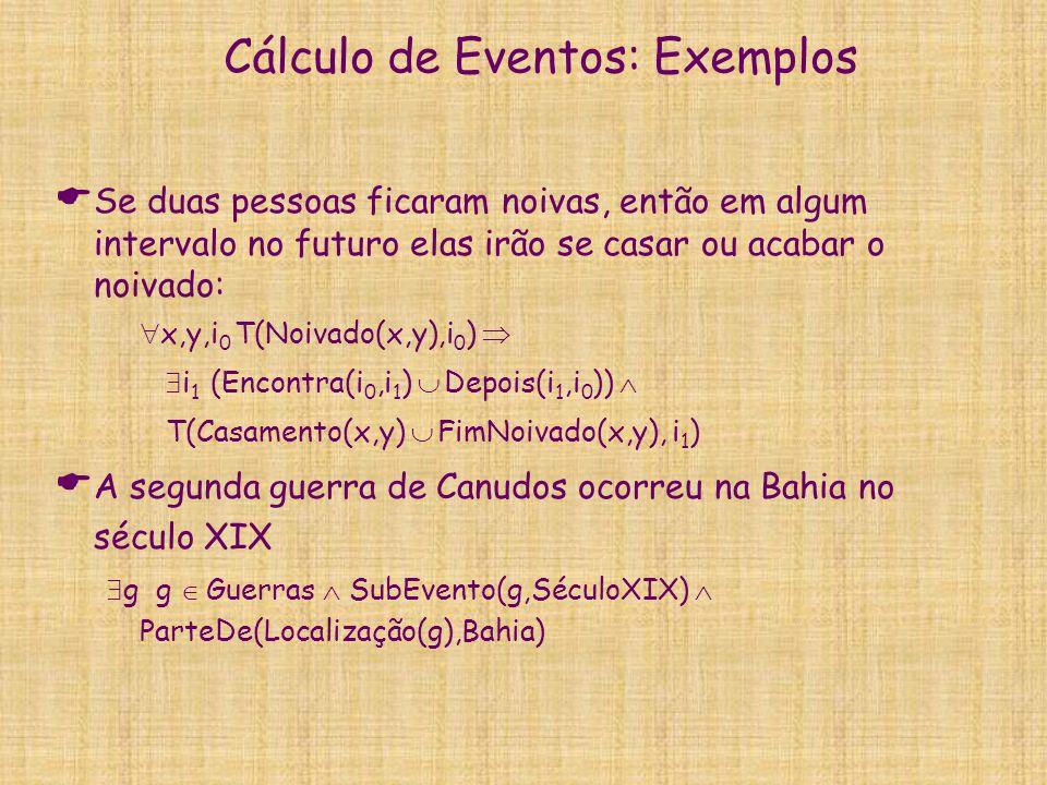 Cálculo de Eventos: Exemplos
