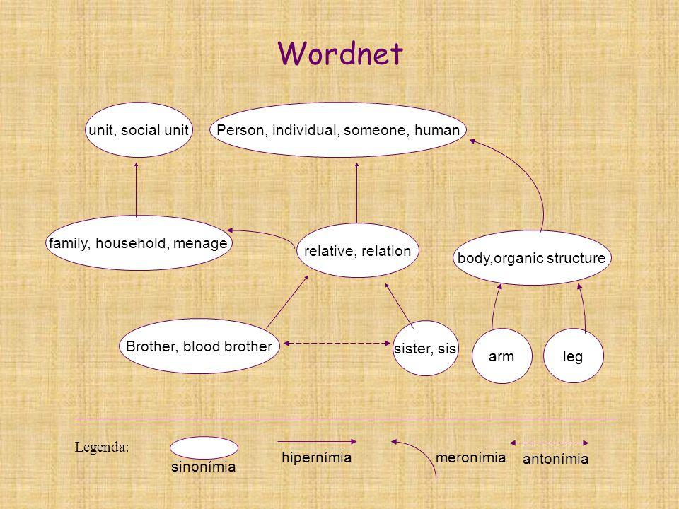 Wordnet antonímia meronímia family, household, menage