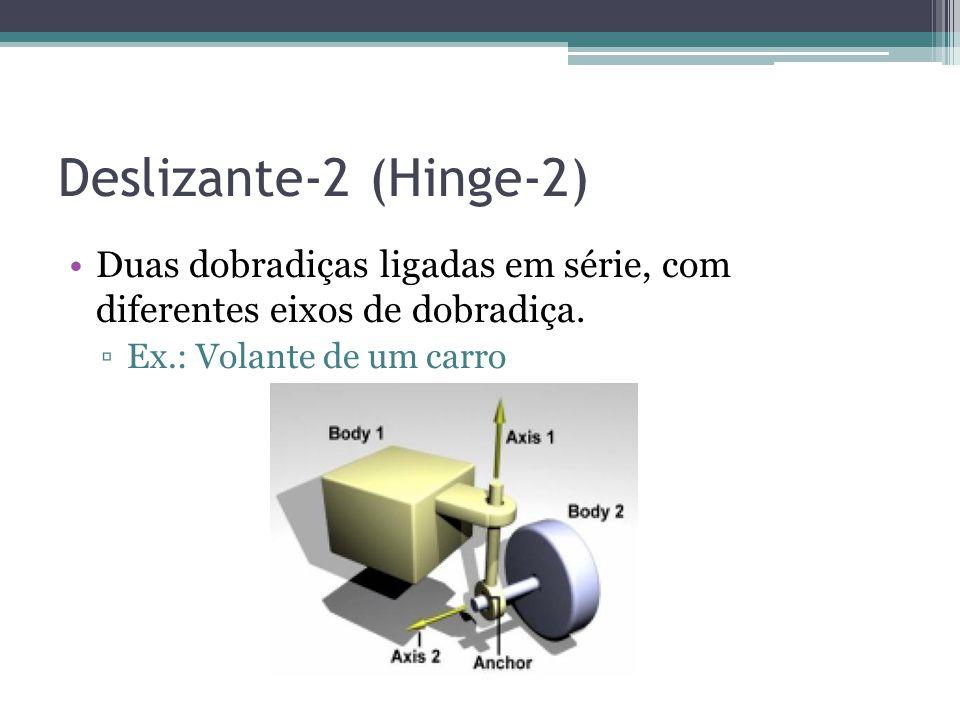 Deslizante-2 (Hinge-2) Duas dobradiças ligadas em série, com diferentes eixos de dobradiça.