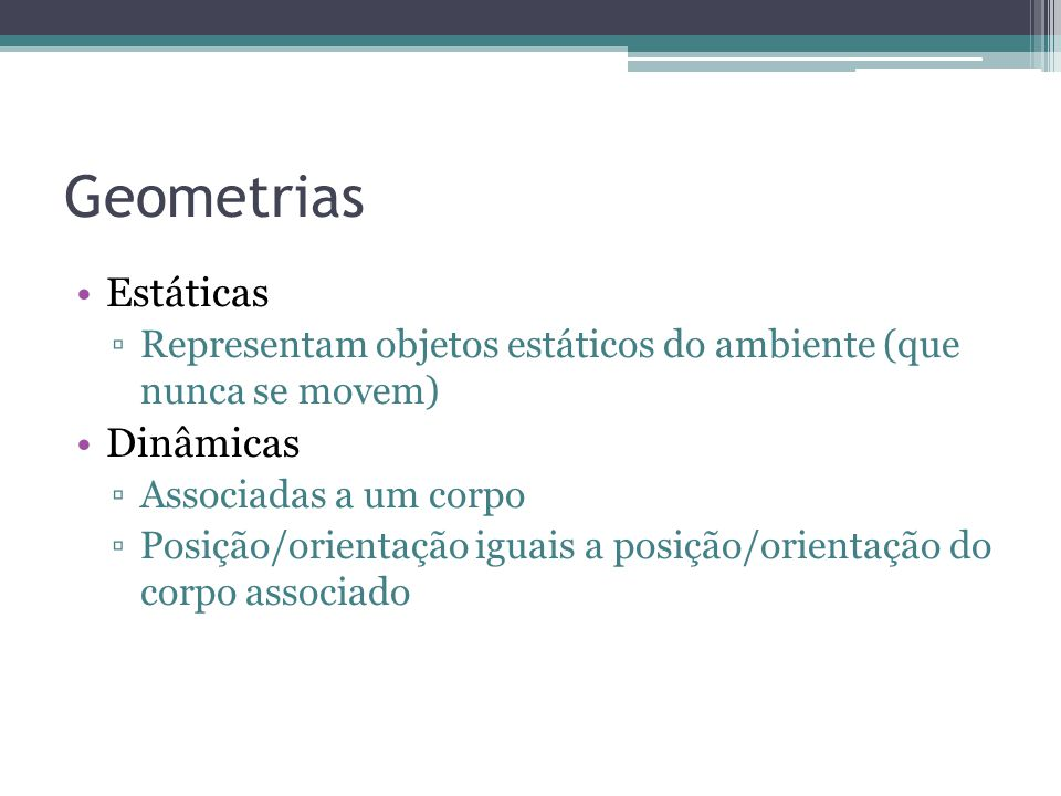 Geometrias Estáticas Dinâmicas