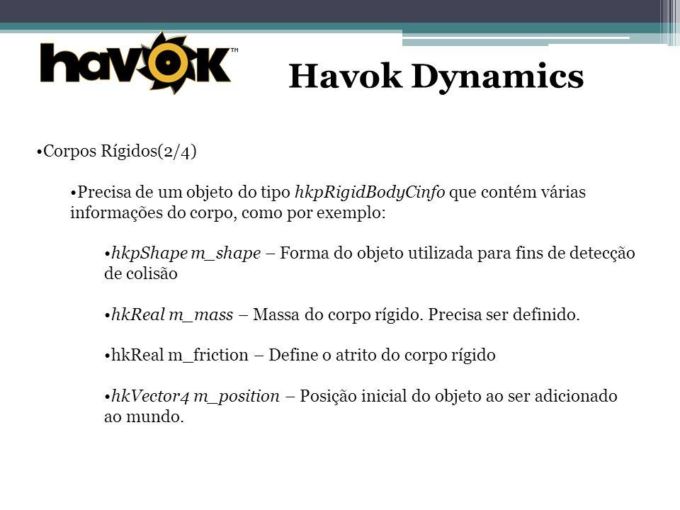 Havok Dynamics Corpos Rígidos(2/4)