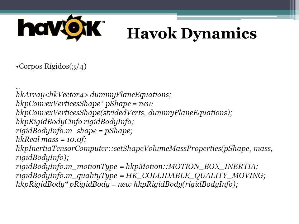 Havok Dynamics Corpos Rígidos(3/4)