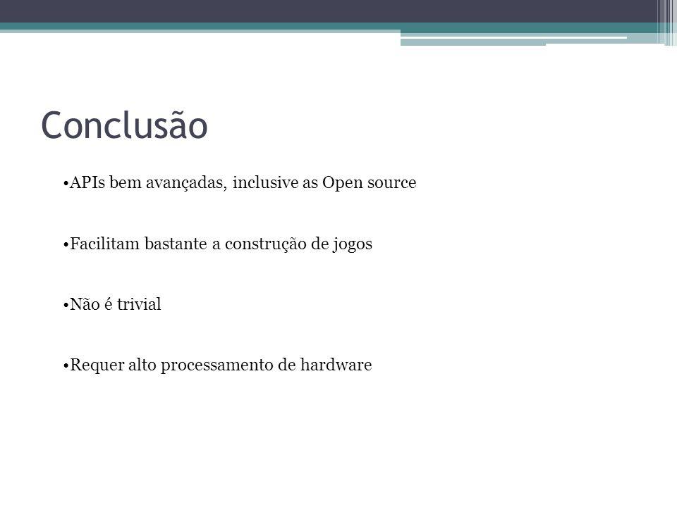Conclusão APIs bem avançadas, inclusive as Open source
