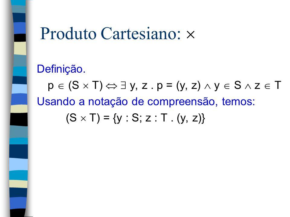 Produto Cartesiano:  Definição.