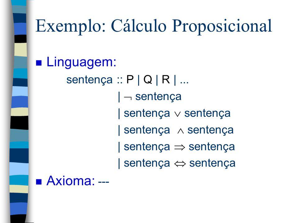 Exemplo: Cálculo Proposicional