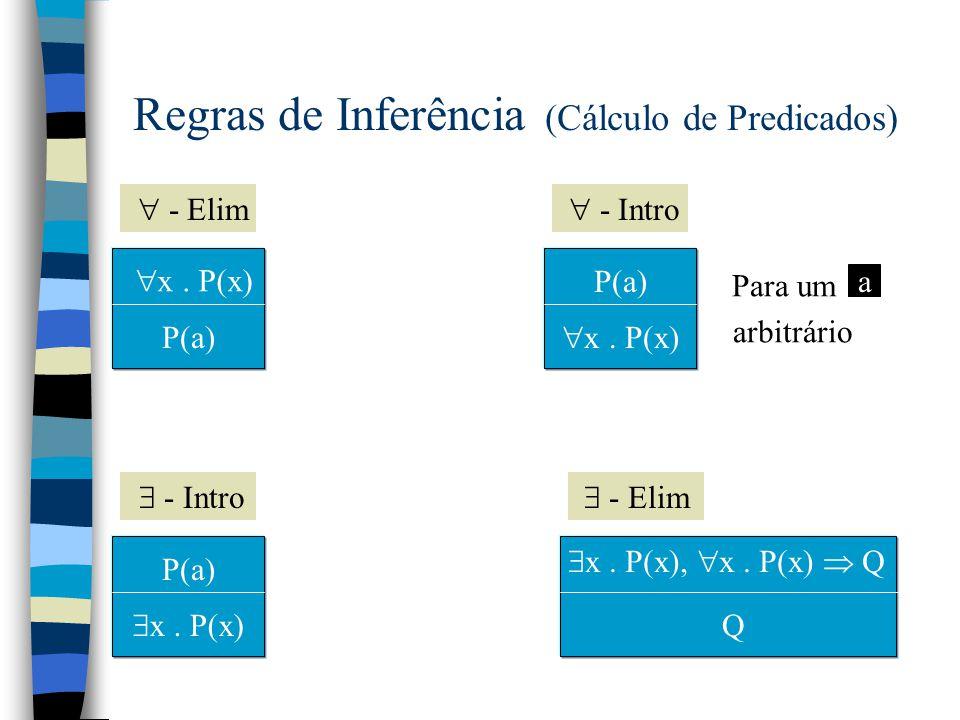 Regras de Inferência (Cálculo de Predicados)