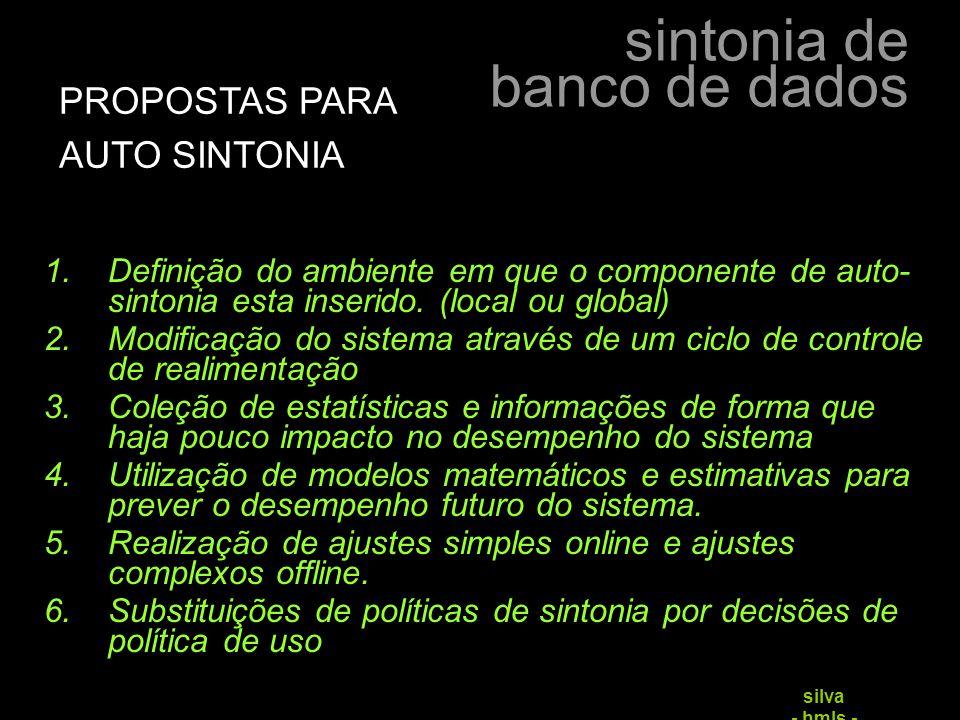 PROPOSTAS PARA AUTO SINTONIA