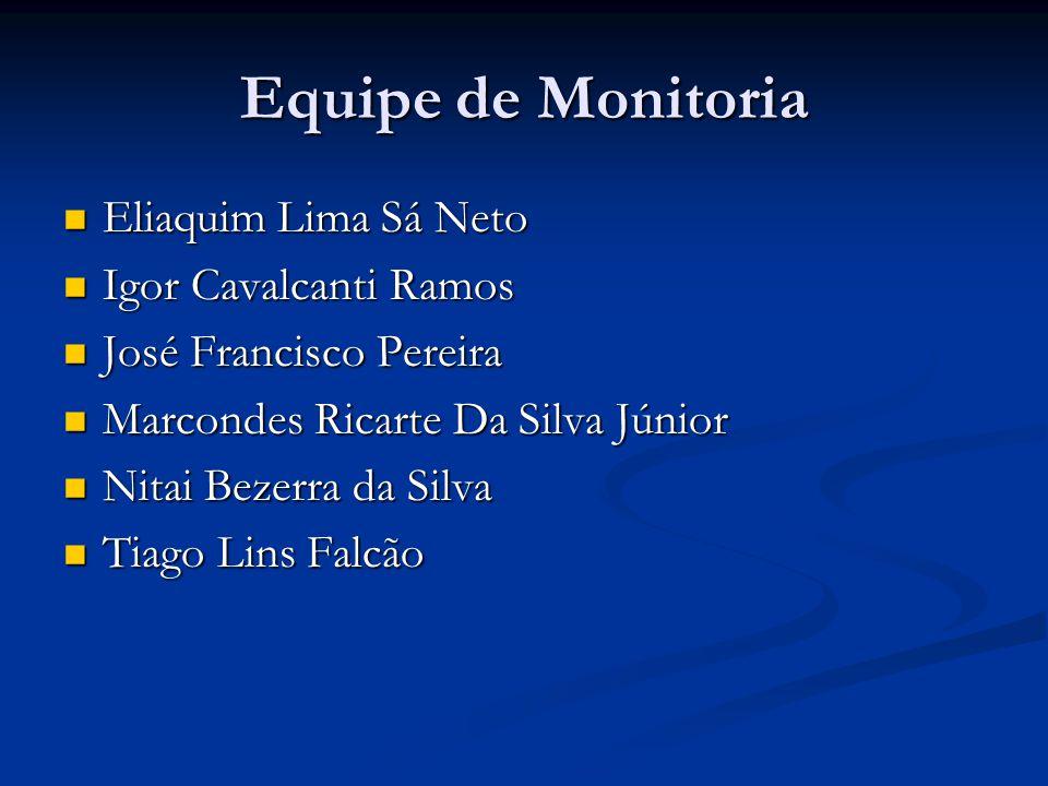 Equipe de Monitoria Eliaquim Lima Sá Neto Igor Cavalcanti Ramos