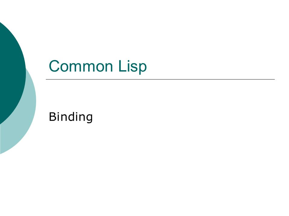 Common Lisp Binding