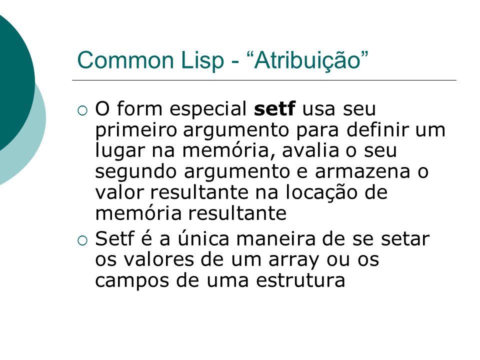 Common Lisp - Atribuição