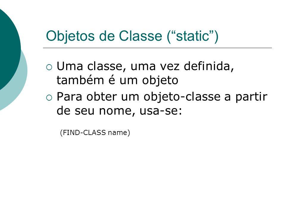 Objetos de Classe ( static )