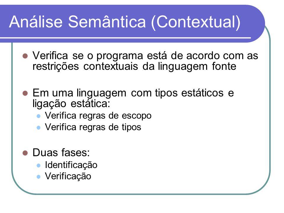 Análise Semântica (Contextual)