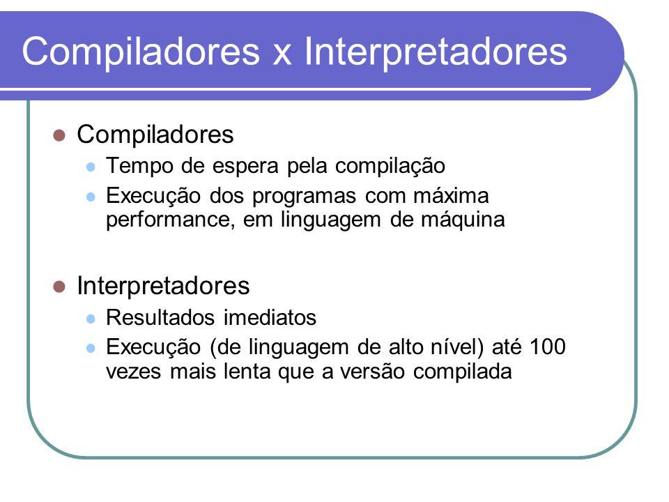 Compiladores x Interpretadores