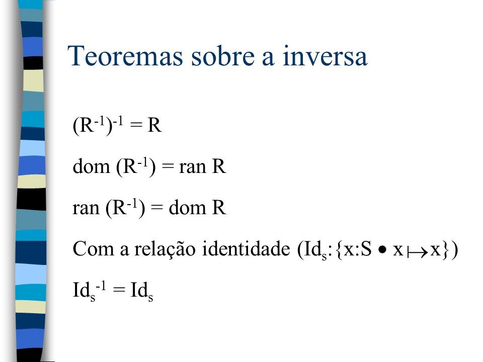 Teoremas sobre a inversa