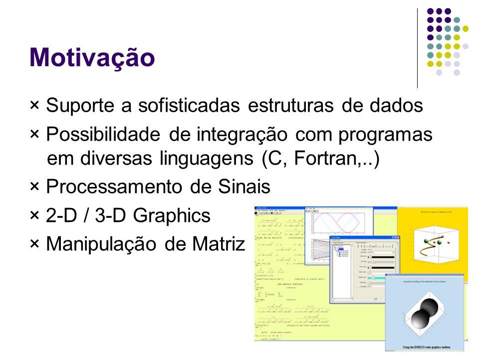 Motivação × Suporte a sofisticadas estruturas de dados
