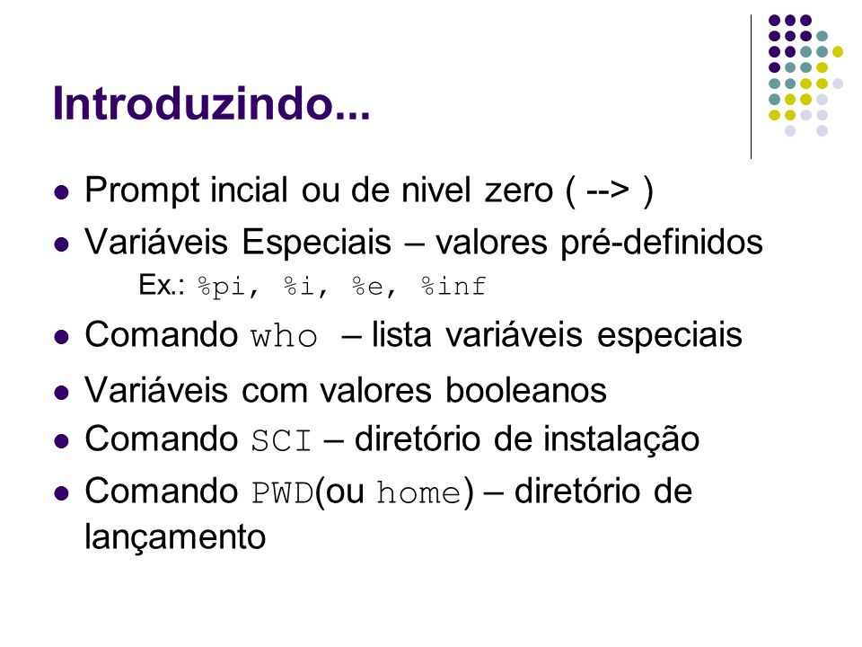 Introduzindo... Prompt incial ou de nivel zero ( --> )