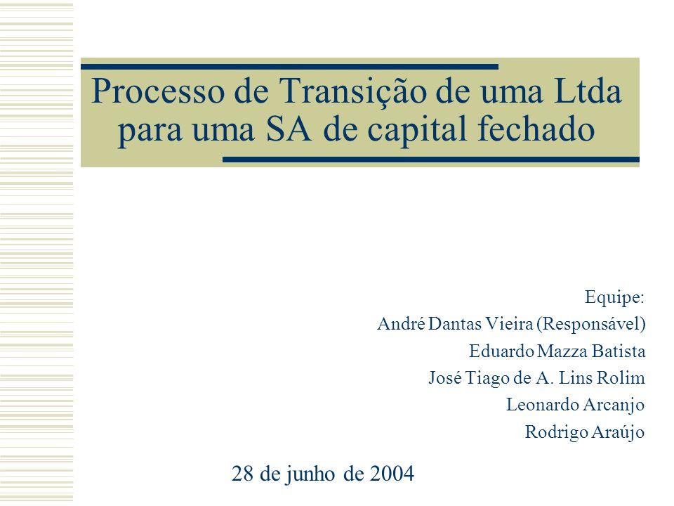 Processo de Transição de uma Ltda para uma SA de capital fechado