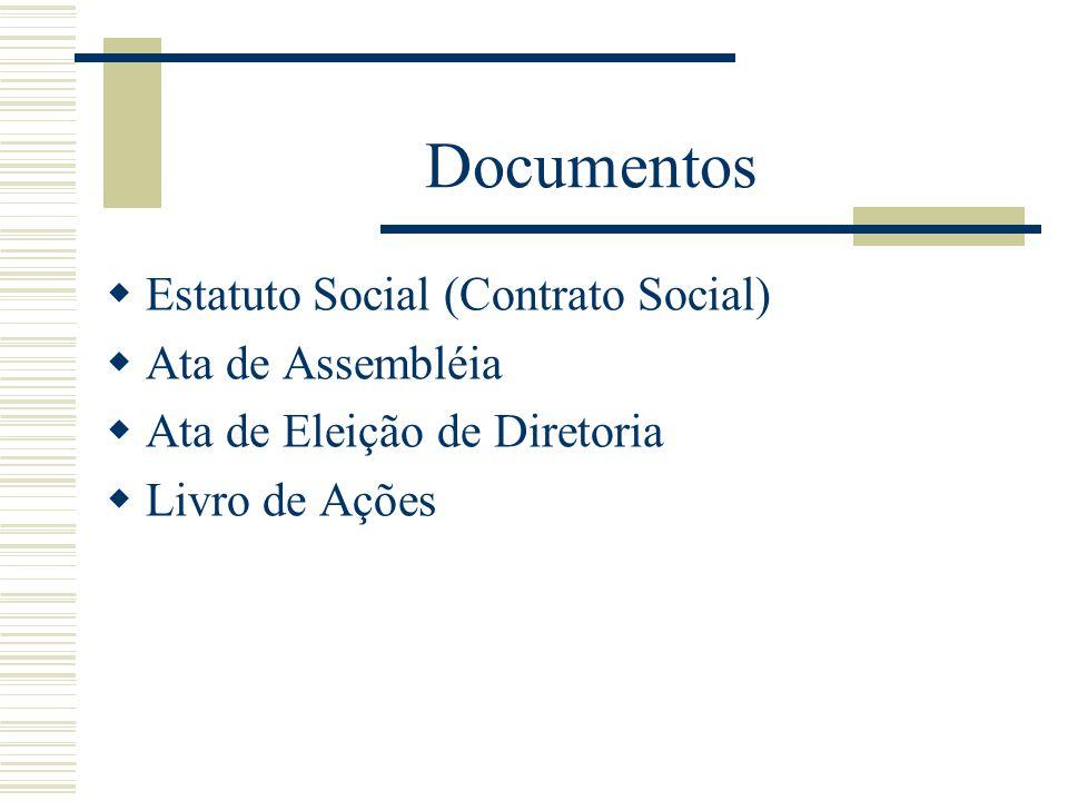 Documentos Estatuto Social (Contrato Social) Ata de Assembléia