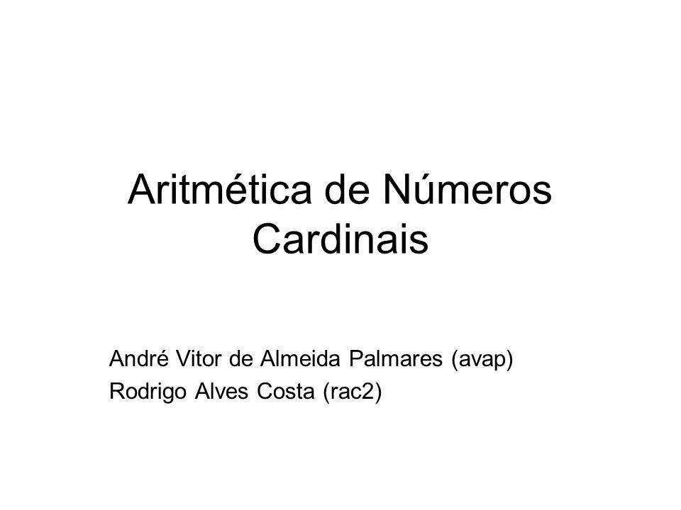 Aritmética de Números Cardinais