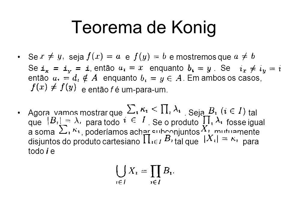 Teorema de Konig Se seja e e mostremos que