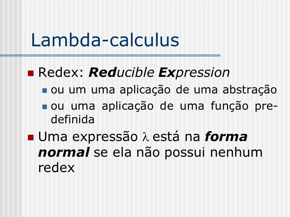Lambda-calculus Redex: Reducible Expression