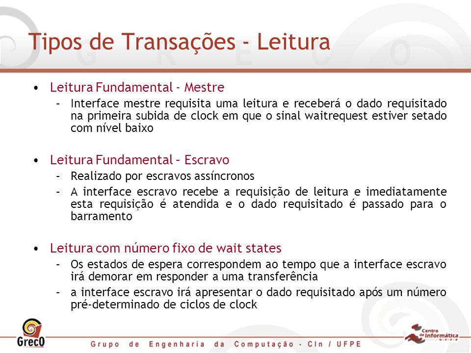Tipos de Transações - Leitura