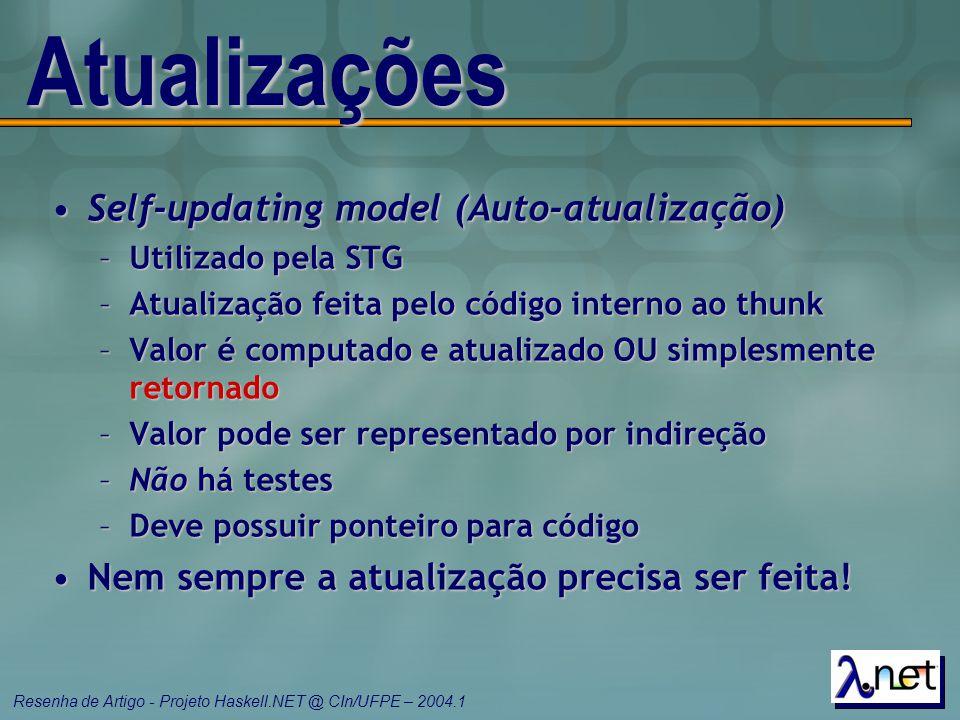 Atualizações Self-updating model (Auto-atualização)