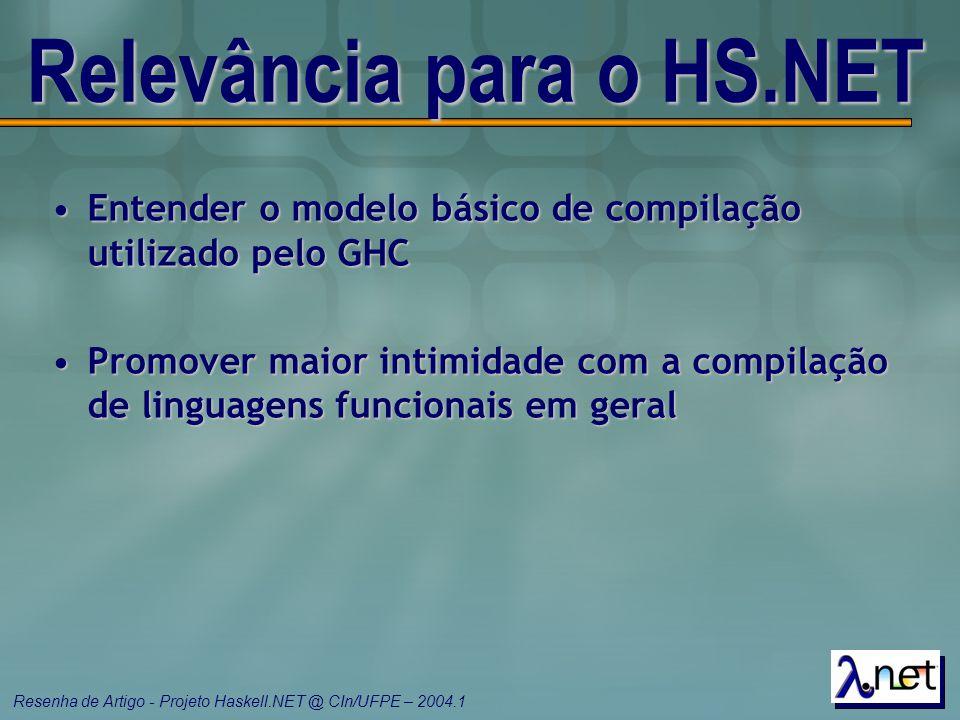 Relevância para o HS.NET