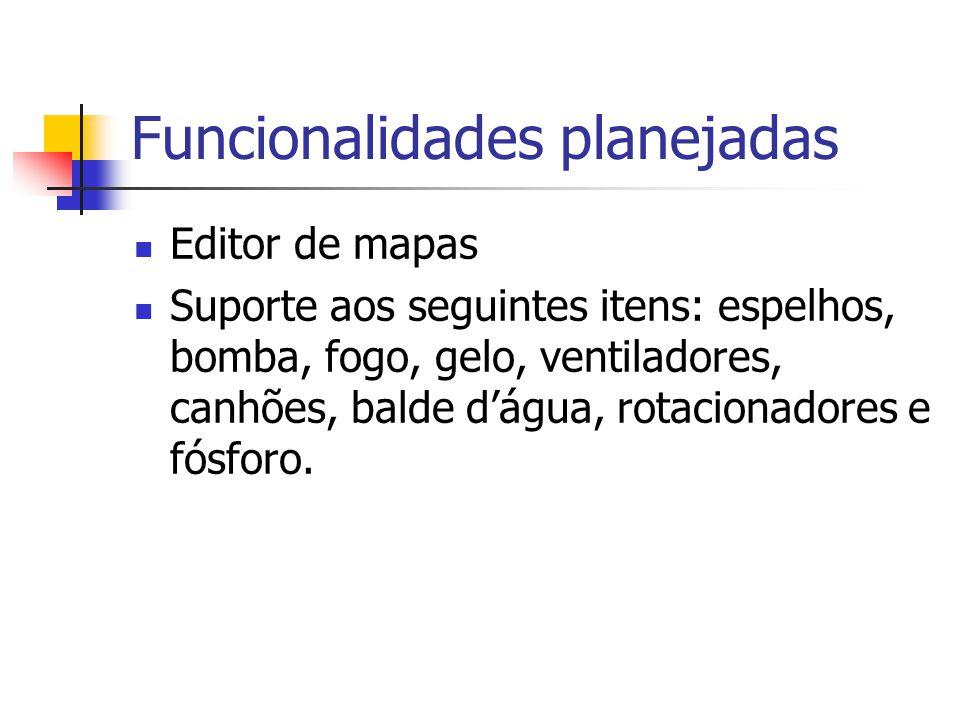 Funcionalidades planejadas