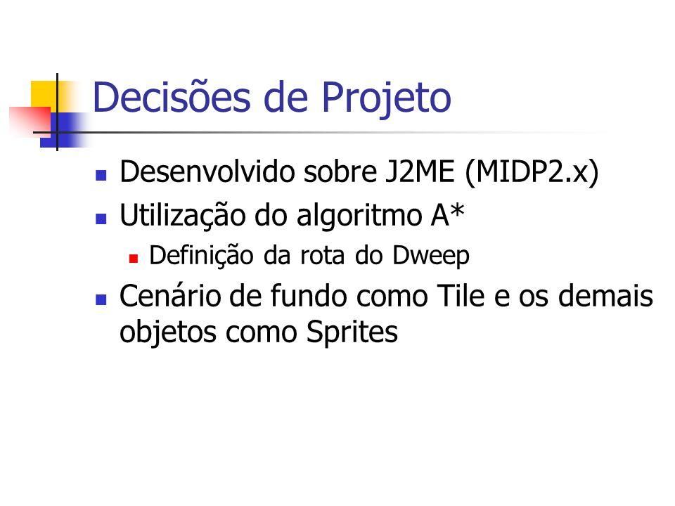 Decisões de Projeto Desenvolvido sobre J2ME (MIDP2.x)