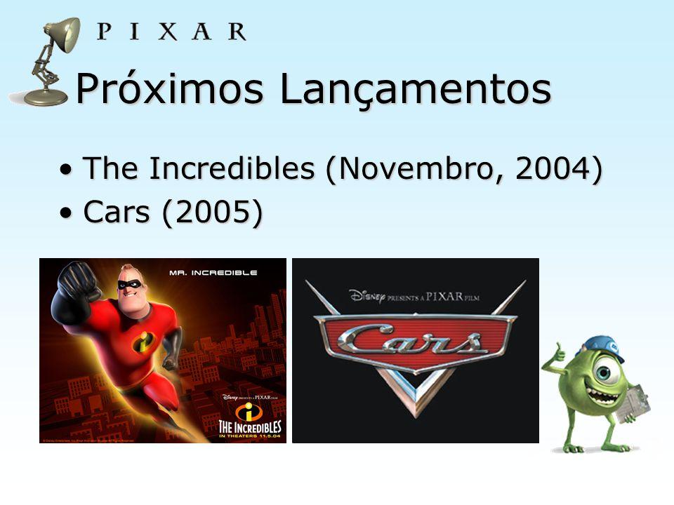 Próximos Lançamentos The Incredibles (Novembro, 2004) Cars (2005)