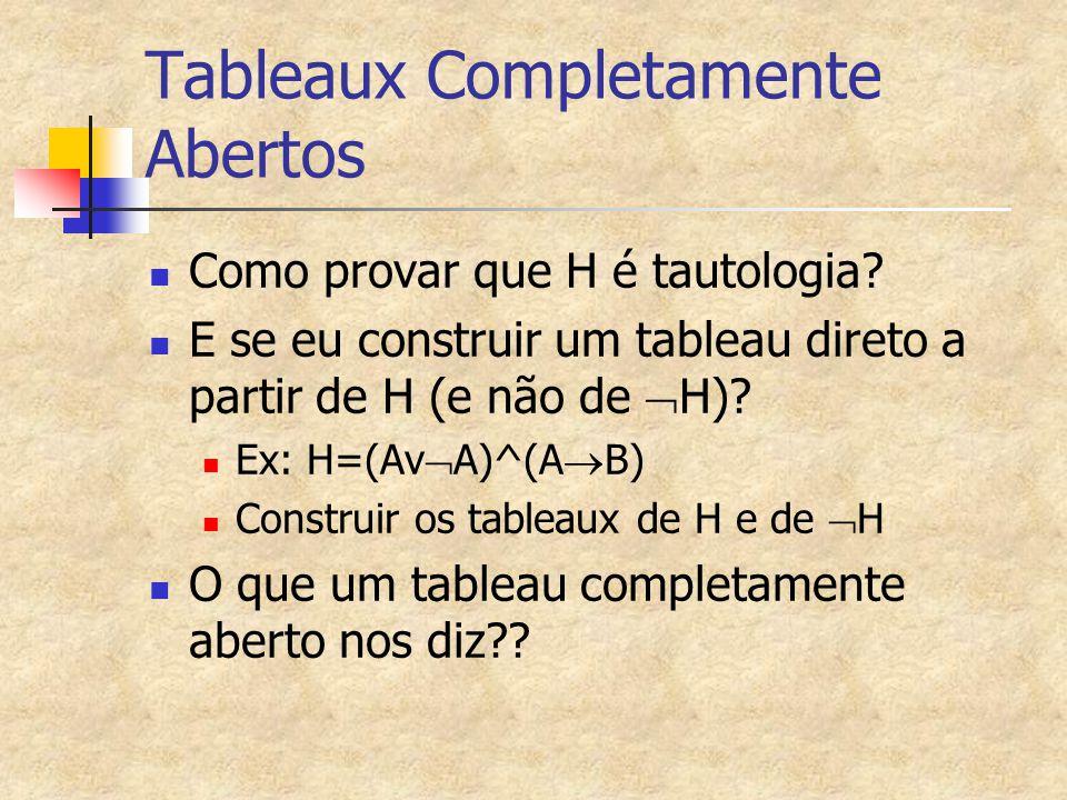 Tableaux Completamente Abertos