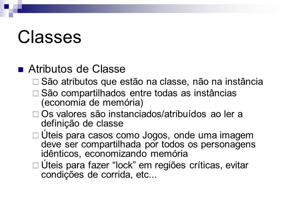 Classes Atributos de Classe