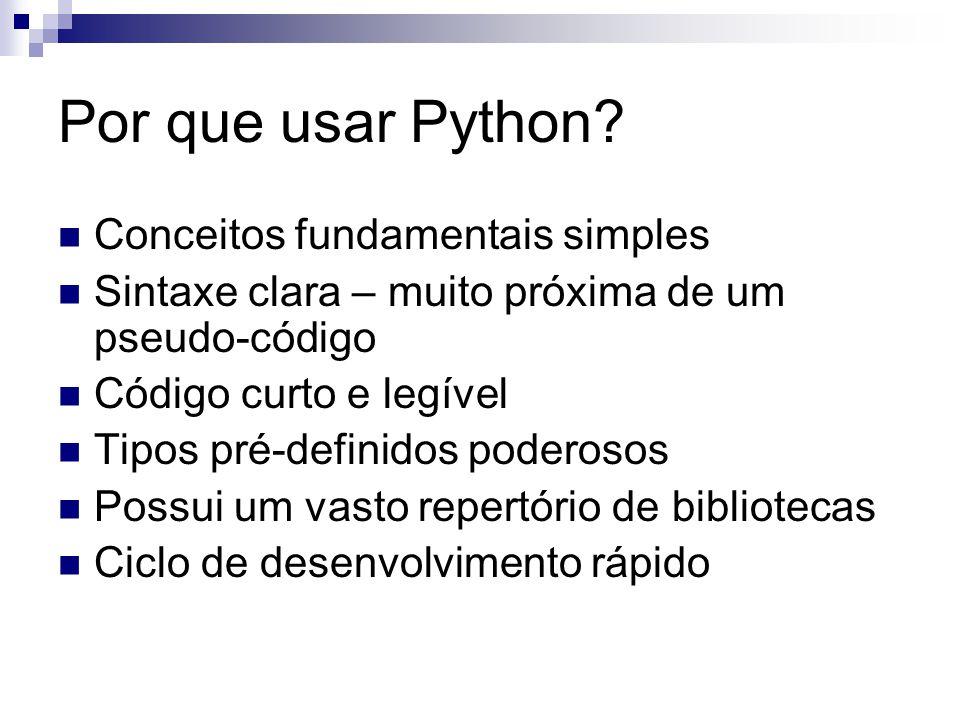 Por que usar Python Conceitos fundamentais simples