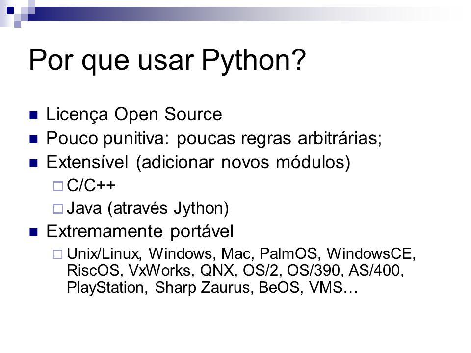 Por que usar Python Licença Open Source